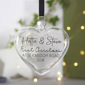 New Home Personalised Christmas Bauble - Olivia Morgan Ltd