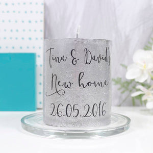 New Home Metallic Personalised Candle - Olivia Morgan Ltd