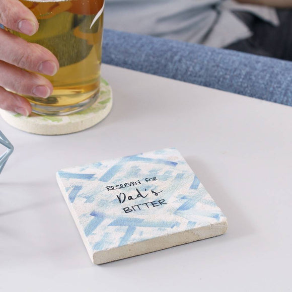 Reserved For Beer Or Ale Personalised Coaster For Him - Olivia Morgan Ltd