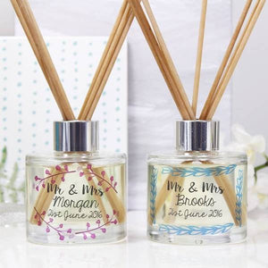 Wedding Personalised Reed Diffuser Gift Set - Olivia Morgan Ltd