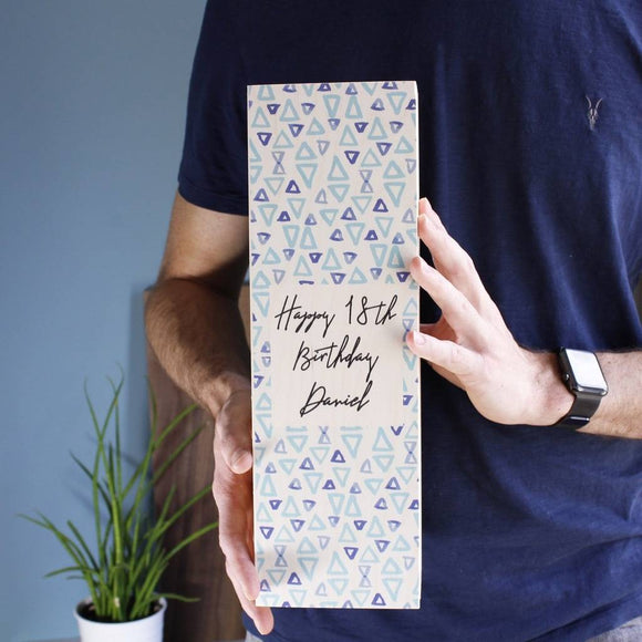 Birthday Personalised Wine Bottle Box For Him - Olivia Morgan Ltd