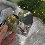 Pet Photo Wooden Heart Personalised Christmas Decoration - Olivia Morgan Ltd