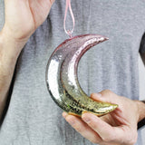Ombre Hanging Moon Nursery Decoration - Olivia Morgan Ltd