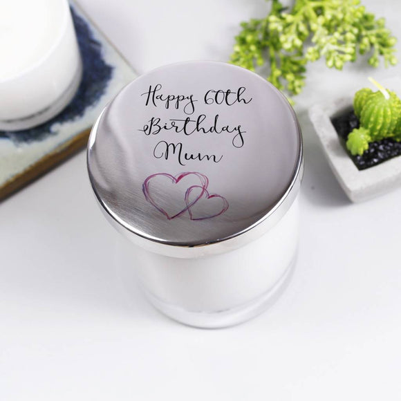 Birthday Personalised Candle With Lid - Olivia Morgan Ltd