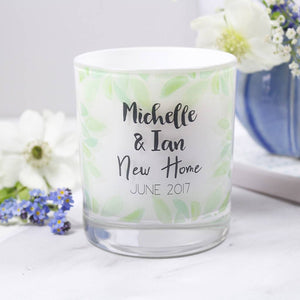 Scented Luxury New Home Personalised Candle - Olivia Morgan Ltd