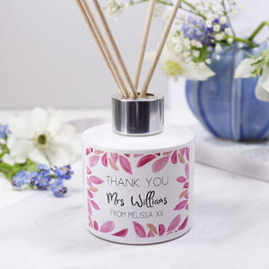Teacher Thank You Reed Diffuser Personalised Gift Set - Olivia Morgan Ltd