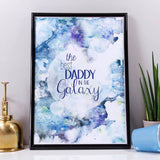 Best Dad In The Galaxy Print For Dad - Olivia Morgan Ltd