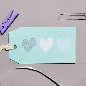 Trio of Hearts Gift Tag - Olivia Morgan Ltd