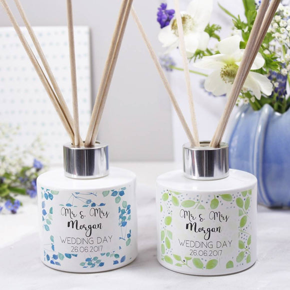 Wedding Day Personalised Reed Diffuser Gift Set - Olivia Morgan Ltd