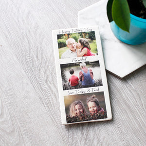 Photo Tile Gift For Grandad - Olivia Morgan Ltd