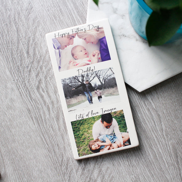 Happy Father's Day Photography Tile - Olivia Morgan Ltd