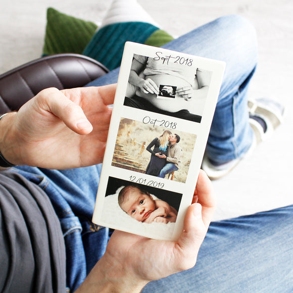 New Dad Timeline Photography Tile Gift - Olivia Morgan Ltd