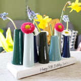 Happy Birthday Personalised Multi Stem Vase - Olivia Morgan Ltd