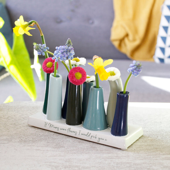I'd Always Pick You Quote Multi Stem Vase - Olivia Morgan Ltd