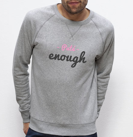 Sweat Paté enough gris homme galette complete png