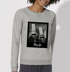 Sweat thuglife bigoudene #1gris femme galette complete png