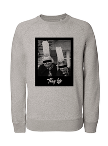 Sweat thuglife bigoudene #1 gris homme galette complete png