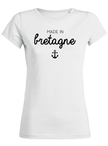 T-Shirt made in bretagne ancre blanc femme galette complete png