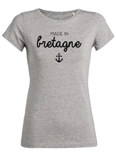 T-Shirt made in bretagne ancre gris femme galette complete png