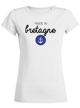 T-Shirt made in bretagne ancre #2 blanc femme galette complete png