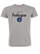 T-Shirt made in bretagne ancre #2 gris homme galette complete png
