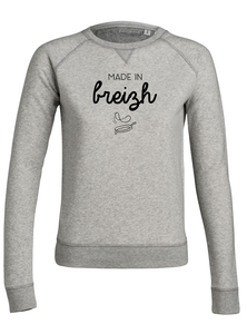 Sweat Made in breizh crepe gris femme galette complète png