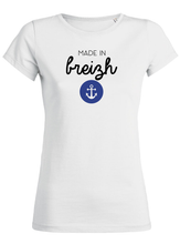 T-Shirt made in breizh ancre #2 blanc femme galette complete png
