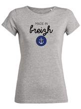 T-Shirt made in breizh ancre #2 gris femme galette complete png