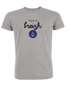 T-Shirt made ine breizh #2 gris homme galette complete pngg