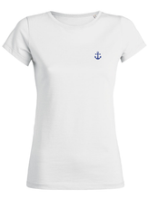 T-Shirt Ancre bleue blanc femme galette complete png