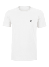 T-Shirt Ancre noire blanc homme galette complete png