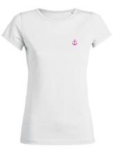 T-Shirt Ancre rose blanc femme galette complete png