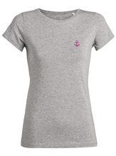 T-Shirt Ancre rose gris femme galette complete png