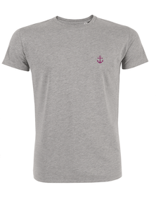 T-Shirt Ancre rose gris homme galette complete png