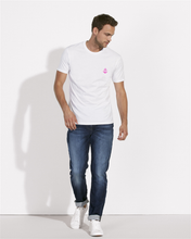 T-Shirt Ancre rose blanc homme galette complete png