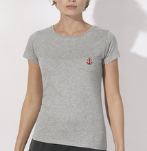 T-Shirt Ancre rouge gris femme galette complete png