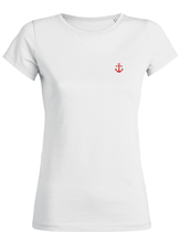 T-Shirt Ancre rouge blanc femme galette complete png