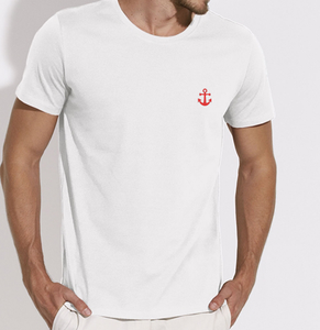 T-Shirt Ancre rouge blanc homme galette complete png