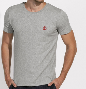 T-Shirt Ancre rouge gris homme galette complete png