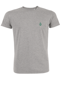 T-Shirt Ancre verte gris homme galette complete png