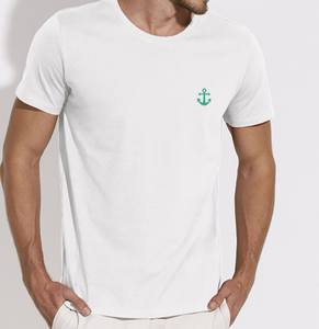 T-Shirt Ancre vert blanc homme galette complete png