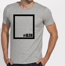 T-Shirt rectangle gris homme galette complete png