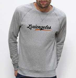 Sweat Loriengeles orange gris homme galette complete png