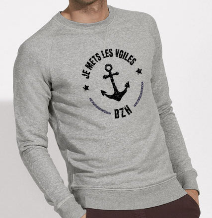 Sweat Je mets les voiles BZH