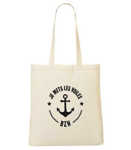 Totebag je mets les voiles
