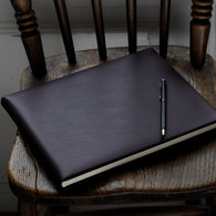Aubergine Leather Book