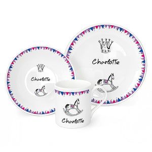 Personalised Royal Baby Breakfast Set  sc 1 st  Cuff London & Personalised Pram Bunting Breakfast Set \u2013 Cufflondon.com