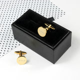 Personalised Gold Plated Round Cufflinks