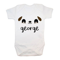 Personalised Cute Puppy Eyes Baby Grow