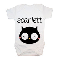 Personalised Little Owl Face Baby Grow